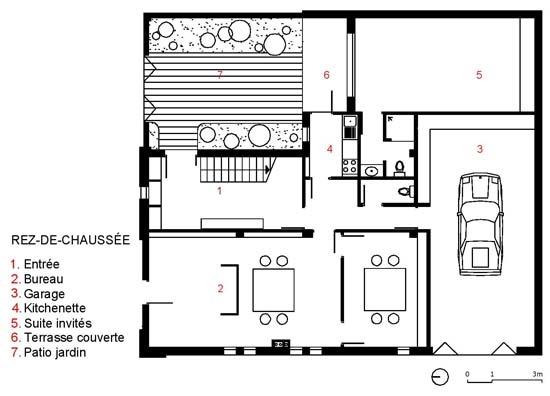 algerie une maison contemporaine par atelier messaoudi architecte archicaine. Black Bedroom Furniture Sets. Home Design Ideas