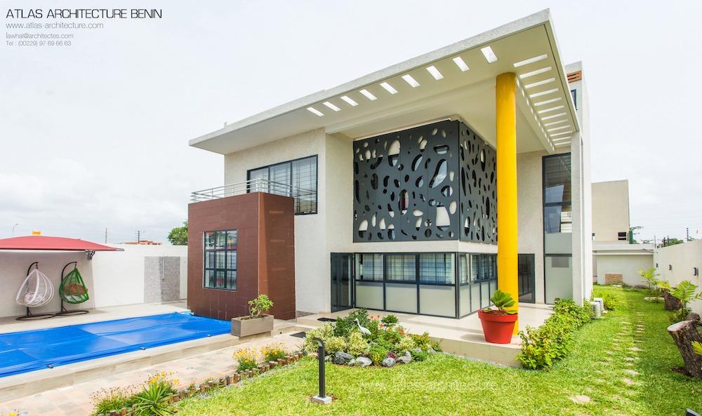 villa de standing cotonou au b nin par atlas architecture archicaine. Black Bedroom Furniture Sets. Home Design Ideas
